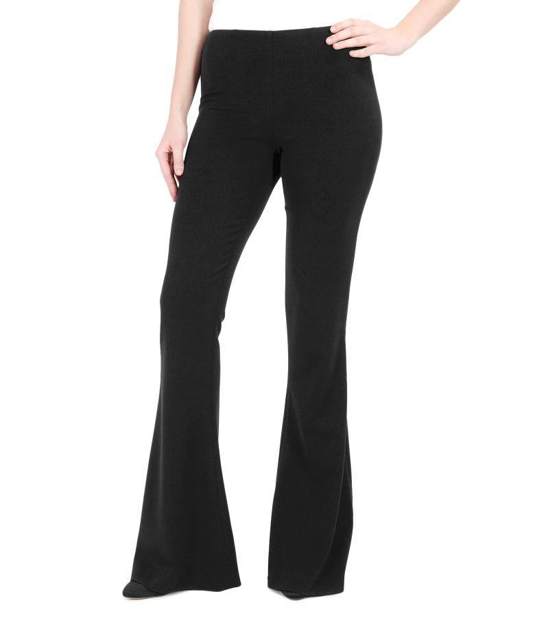 Pantaloni evazati din stofa elastica