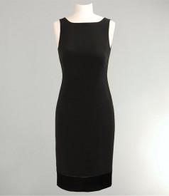 Rochie din saten negru