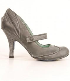 Pantofi din piele mata cu efect brumat Irregular Choice 3614
