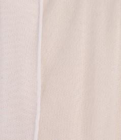 Bolero din tul elastic alb