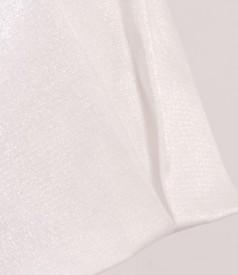 Bolero alb cu efect sidefat