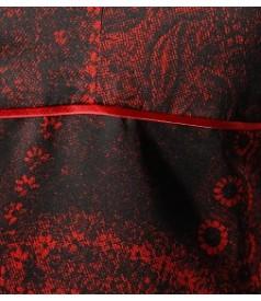 Rochie lunga din saten elastic cu bretele