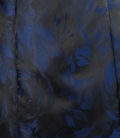 Rochie din brocart satinat cu curea