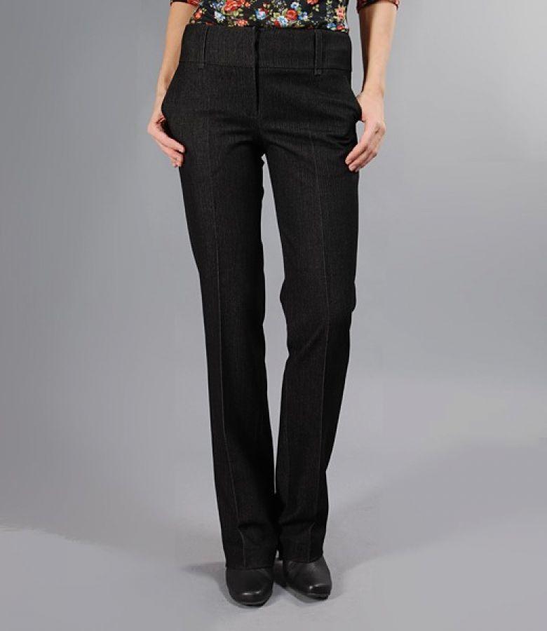 Pantaloni cu buzunare din tesatura elastica gri