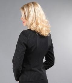 Sacou elegant cu cordon din lana virgina elastica