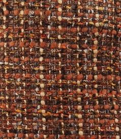 Fusta din bucle maro cu lana si fir de efect