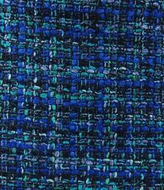 Fusta din bucle albastru cu lana si fir de efect