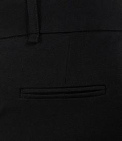Pantaloni office negri cu buzunare