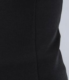 Tricou din jerse elastic gri cu corsaj