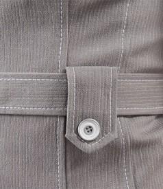 Sacou din bumbac elastic cu cordon