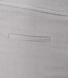 Pantaloni din bumbac elastic cu tighele