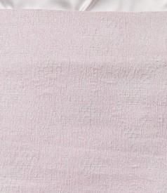 Fusta din brocart de bumbac elastic cu fir de efect roz