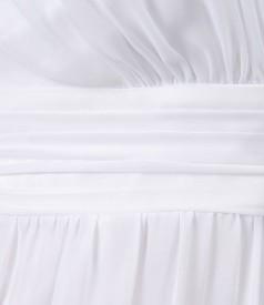 Rochie din voal uni cu pieptii suprapusi