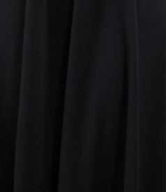 Fusta in clini din jerse elastic negru