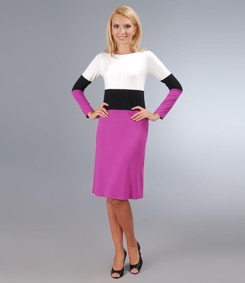 Rochie din jerse elastic in trei culori