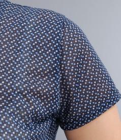 Tricou din jerse imprimat cu floare
