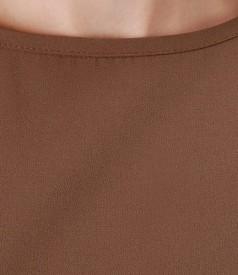 Rochie maro cu curea