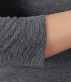 Rochie din jerse elastic gri