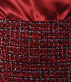 Fusta din bucle rosu cu lana