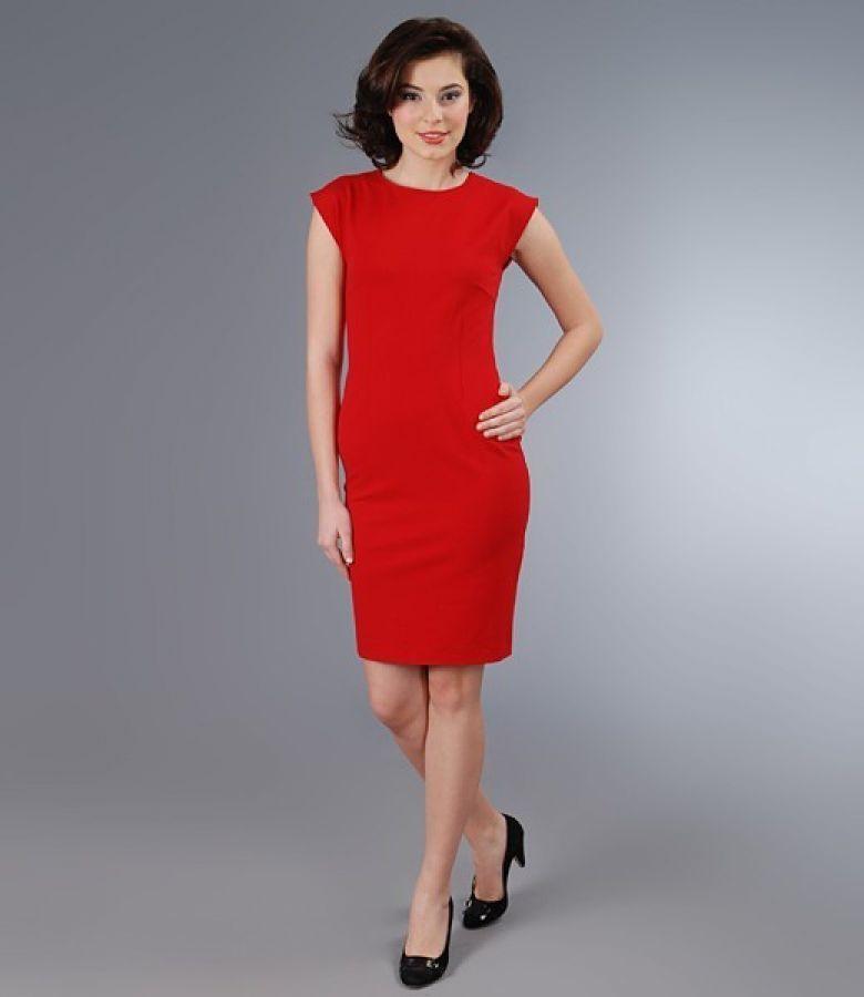 Rochie din jerse elastic gros rosu
