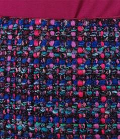 Fusta din bucle multicolor cu fir mov