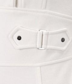 Rochie din jerse elastic gros cu decolteu asimetric