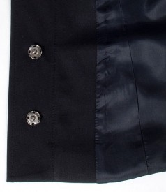 Sacou office negru cu guler rotund