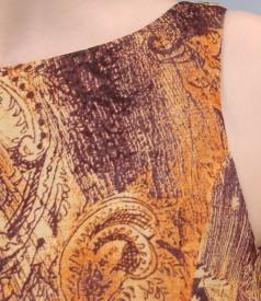Rochie din voal de vascoza imprimata