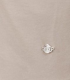 Bluza din jerse elastic cu guler sal