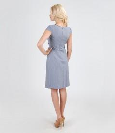 Rochie din bumbac elastic cu aripioare si cordon