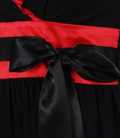 Rochie din jerse elastic imprimat cu volan