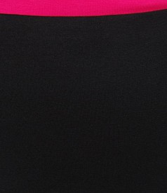 Fusta eleganta din jerse gros negru
