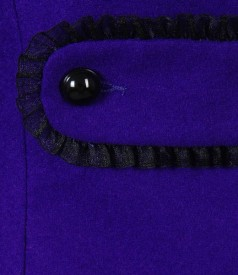 Sacou elegant din lana virgina cu casmir