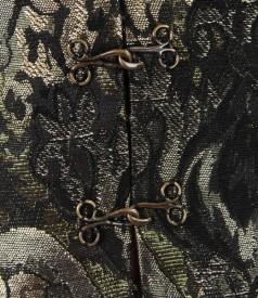 Sacou din brocart cu lana si fir de efect auriu