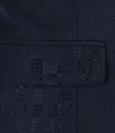 Sacou office bleumarin cu lana elastica