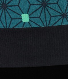 Tricou cu garnitura din jerse imprimat