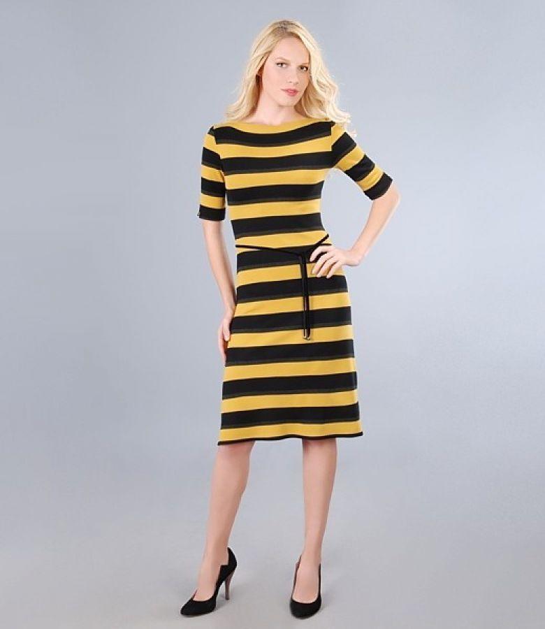 Rochie din jerse elastic gros imprimat