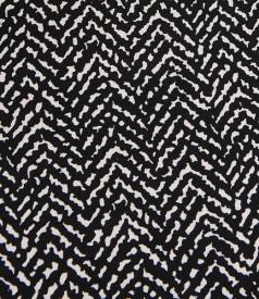 Rochie din jerse elastic cu insertie