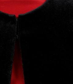 Bolero din catifea elastica neagra