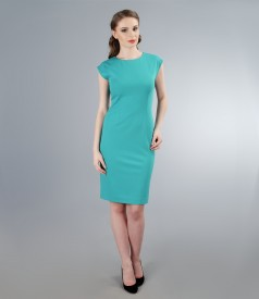 Rochie din jerse elastic turquoise