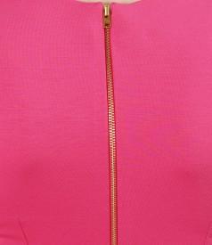 Rochie din jerse elastic ciclamen