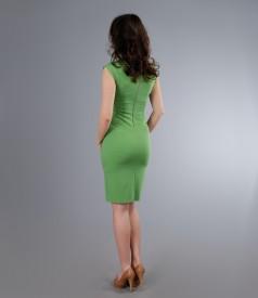 Rochie din jerse elastic verde