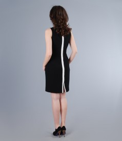 Rochie eleganta cu garnitura de lac contrast