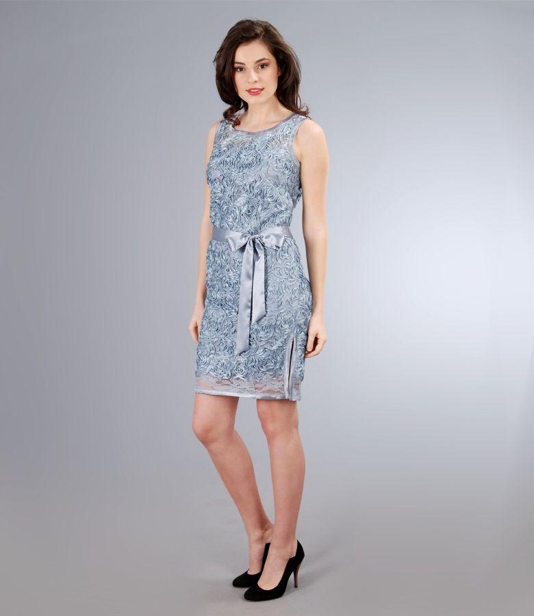Rochie din dantela cu cordon de saten