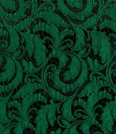 Fusta din brocart elastic verde
