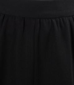 Fusta in clini din stofa elastica neagra
