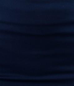 Fusta din bumbac elastic bleumarin