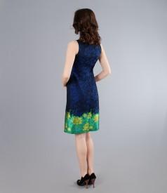 Rochie eleganta din brocart multicolor