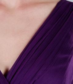 Rochie de seara lunga din voal de matase