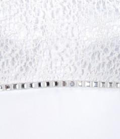 Rochie alba cu garnitura de dantela